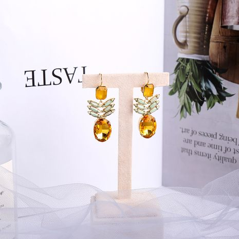 pineapple  exaggerated fruit earrings NHQD265453's discount tags
