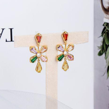 Pendientes de flor de pétalo de color aguja de plata s925 NHQD265454's discount tags