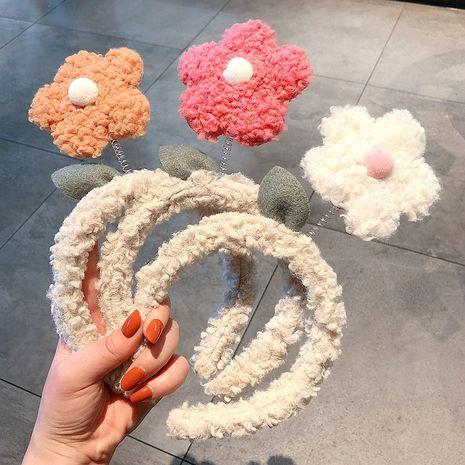 nueva diadema de felpa de flores tridimensional NHCQ265175's discount tags