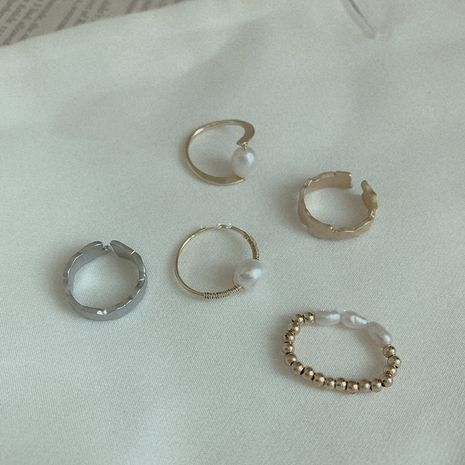 simple new  pearl opening adjustable ring  NHYQ265217's discount tags