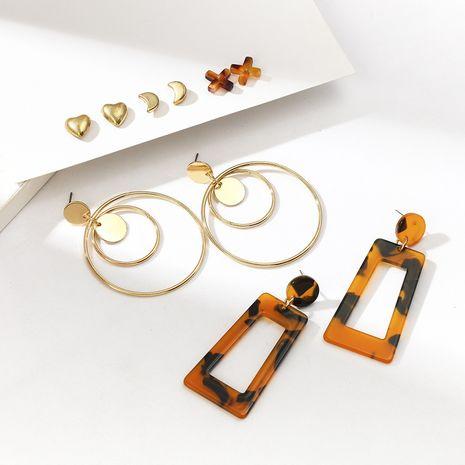 hot-selling head earrings set alloy earrings set NHQC265839's discount tags