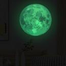 30CM acuarela luna luminosa pegatinas de pared NHAF265486
