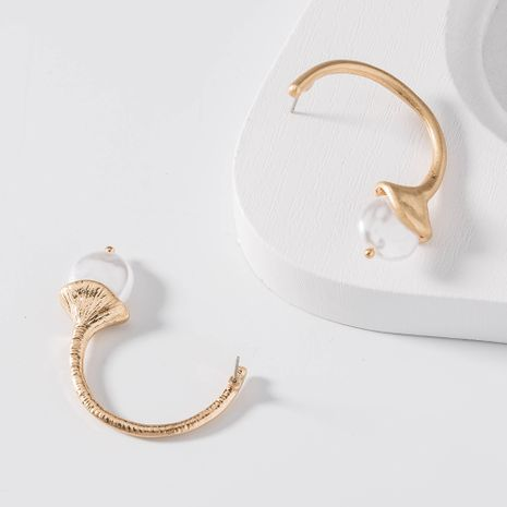 fashion new  C-shaped   wild white pearl earrings NHAN265492's discount tags