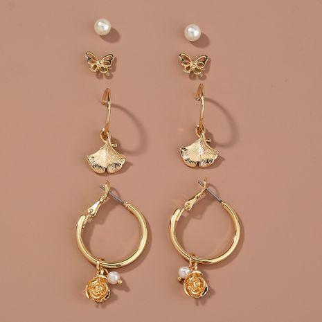 butterfly  leaf flower earrings NHAN265498's discount tags