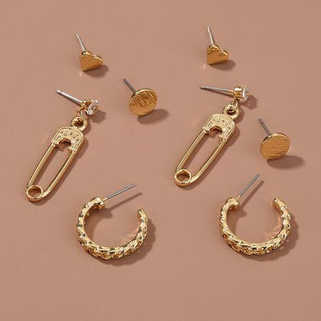 heart-shaped round  diamond earrings NHAN265500's discount tags