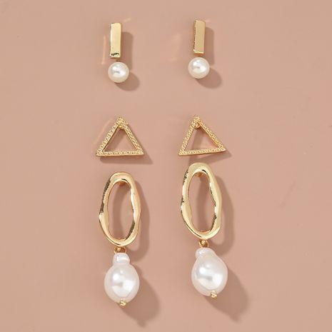 Simple geometric stud earrings set NHAN265502's discount tags