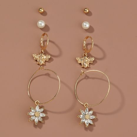 new wild pearl  butterfly short earrings NHAN265504's discount tags