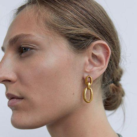 simple long metal chain earrings NHLA265509's discount tags