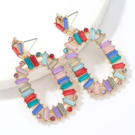Fashion  diamond  oval alloy diamond rhinestone geometric earrings  NHJE265544's discount tags