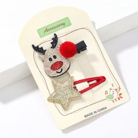 Weihnachtsserie Flanell Elch Stern Haarball Nette Haarnadel NHJE265547's discount tags