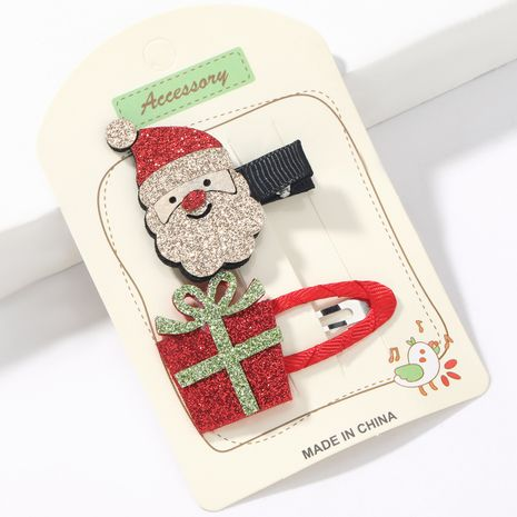 Weihnachtsserie Flanell Weihnachtsmann BB Clip NHJE265549's discount tags