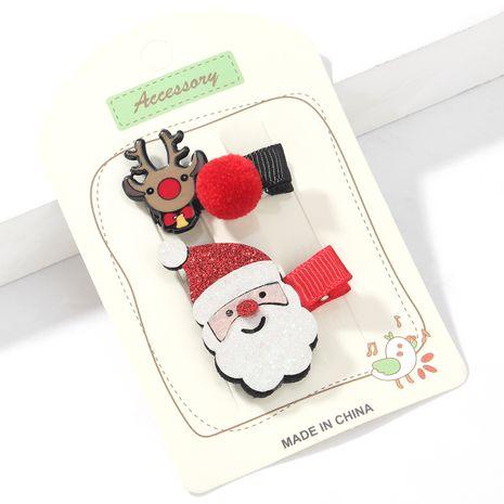Weihnachtsserie Flanell Weihnachtsmann Elch Haarnadel NHJE265551's discount tags