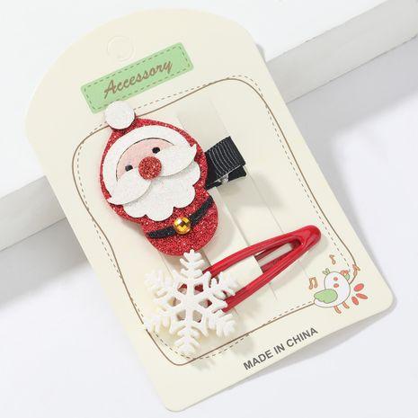 Weihnachtsserie Flanell Weihnachtsmann Harz Schneeflocke Haarnadel NHJE265553's discount tags