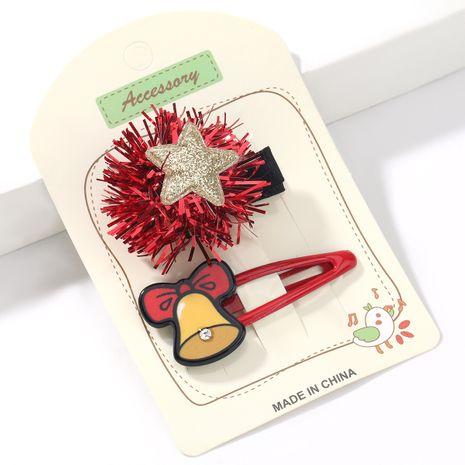 Weihnachtsserie farbige Kugeln Sterne Harz Glocken koreanische Haarnadel NHJE265555's discount tags