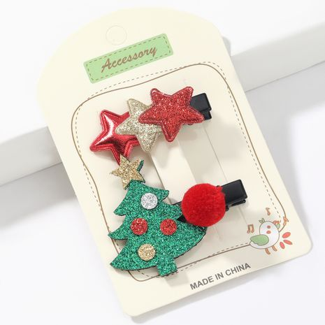 Flanell Multilayer Star Weihnachtsbaum Haarnadel NHJE265556's discount tags