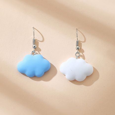 new  simple cute blue sky white cloud earrings NHGY265572's discount tags