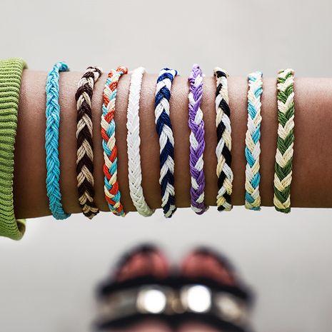 Nouveau bracelet tressé en corde métallique fait main bohème NHGY265575's discount tags