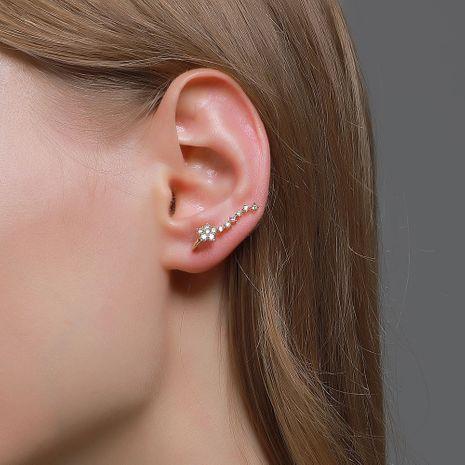 diamond starry zircon star earrings  NHDP265578's discount tags