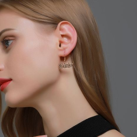 new simple English alphabet earrings NHDP265580's discount tags