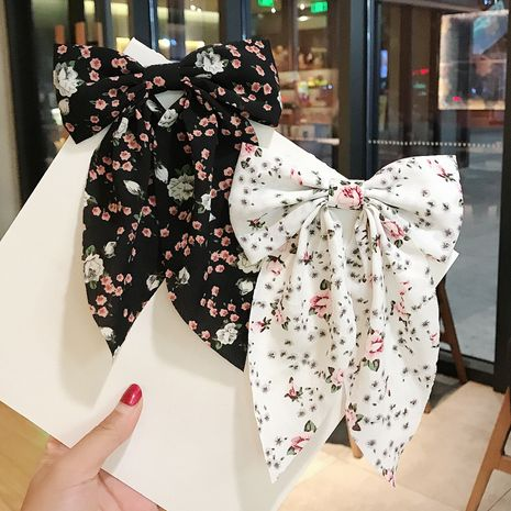 New Korean  floral bow hairpin  NHDQ265635's discount tags