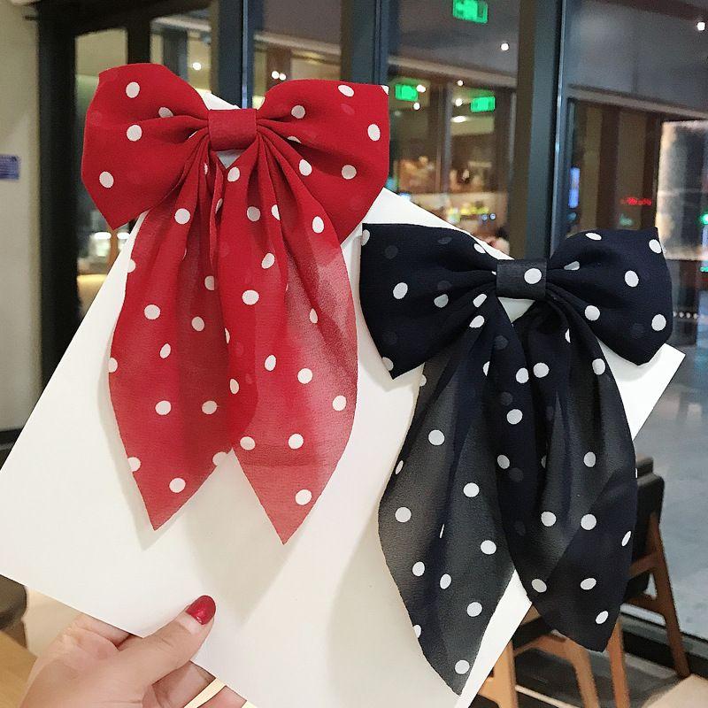 Korean sweet bow  wild chiffon hair clip  NHDQ265636
