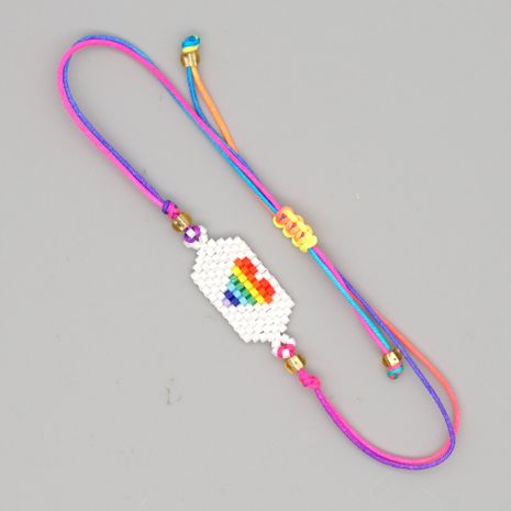 Miyuki simple  fashion colorful love couple bracelet   NHGW265644's discount tags