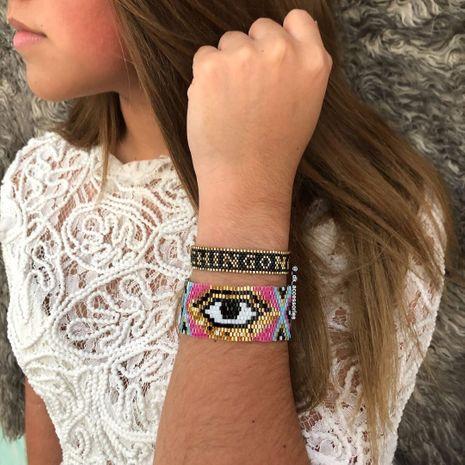 Miyuki  rice beads woven Turkish eyes ethnic style handmade bracelet NHGW265650's discount tags