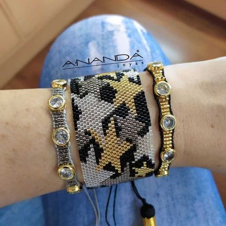 fashion diamond  Miyuki  woven five-pointed star bracelet  NHGW265652's discount tags