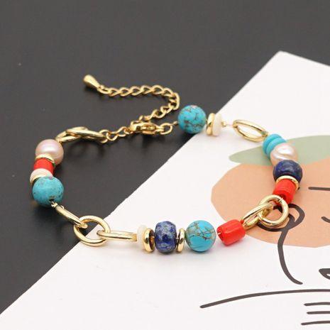 bracelet simple de perles d'eau douce naturelles baroques NHGW265659's discount tags