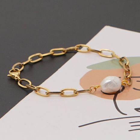 bracelet simple de perles d'eau douce naturelles baroques NHGW265661's discount tags