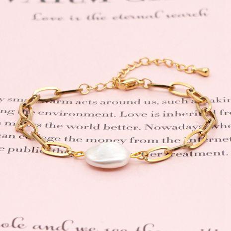 Bracelet de perles d'eau douce naturelles baroques de mode créative O-chain en acier inoxydable NHGW265662's discount tags