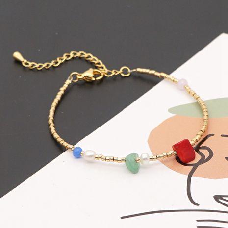 Bracelet de perles d'eau douce naturelles avec pierres précieuses de Bohême NHGW265663's discount tags