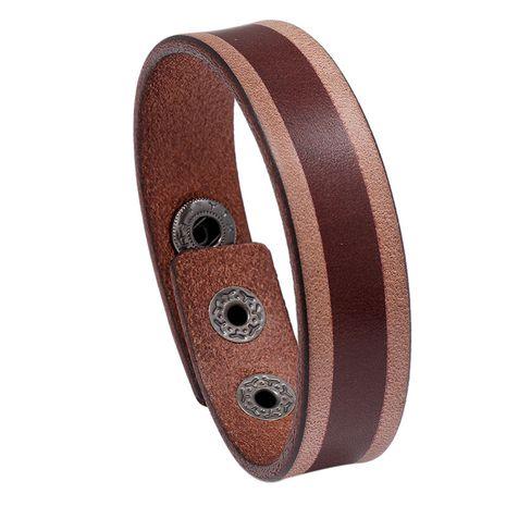 rétro en cuir vieilli simple nouveau bracelet en cuir plaque lumineuse NHPK265665's discount tags
