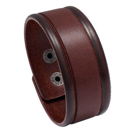 nouveau bracelet simple en cuir de vache rétro sauvage NHPK265666's discount tags