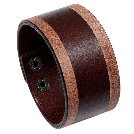 cuir vieilli rétro simple nouveau bracelet en cuir large plaque lumineuse NHPK265667's discount tags