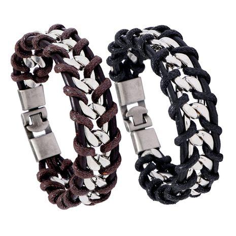 bracelet en chaîne de style punk à personnalité tissée NHPK265671's discount tags