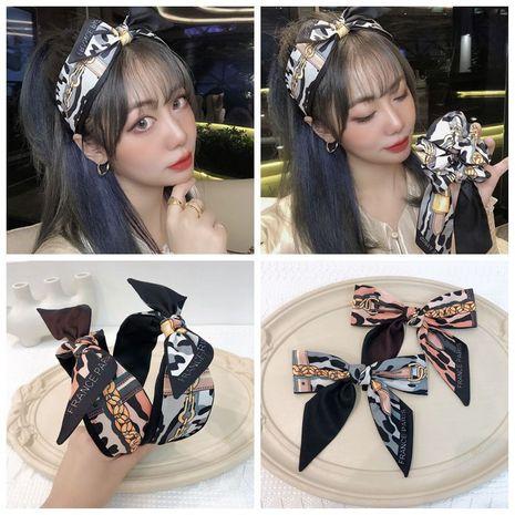 retro  silk printing chain all-match  headband  NHHD265731's discount tags