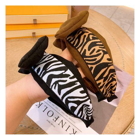 Korea  retro  leopard print big bow wild  headband NHHD265732's discount tags