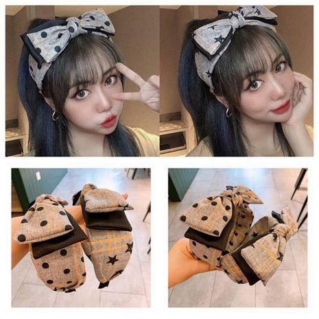 Korean polka  simple double big bow headband  NHHD265733's discount tags