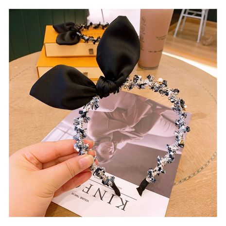 Korean pearl  bow headband wholesale  NHHD265743's discount tags