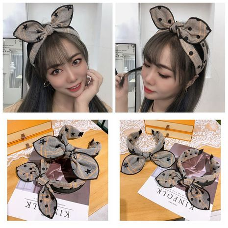 Korea  retro  wave point wide  hairband  NHHD265745's discount tags