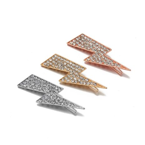 hot-selling new alloy diamond-studded  lightning hair clip NHOA265750's discount tags