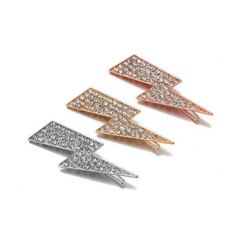 nueva pinza de pelo relámpago tachonada de diamantes de aleación caliente-vendedora NHOA265750's discount tags