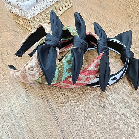 new love bow  Korean wide-brimmed rabbit ears headband  NHUX265765's discount tags