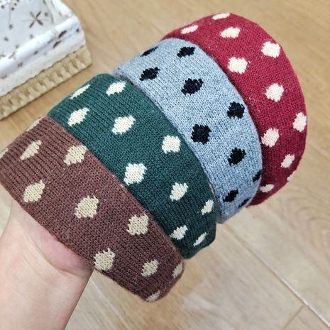 Korea  New Knitted  Trendy  Polka Dot headband  NHUX265766's discount tags