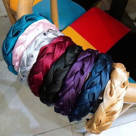 new  hand-woven fashion fabric wide-brimmed headbands  NHUX265776's discount tags