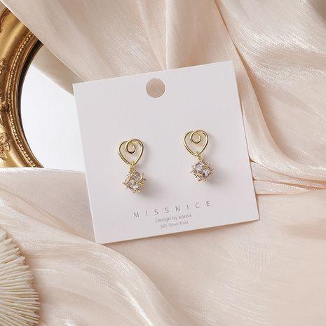 925 silver needle love zircon ball earrings  NHMS265826's discount tags