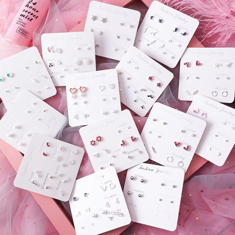 Korean popular fashion  earrings set  NHMS265821