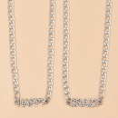 new metal texture letter womens necklace  NHAJ265873