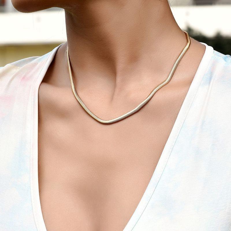 fashion  simple womens necklace  NHAJ265885